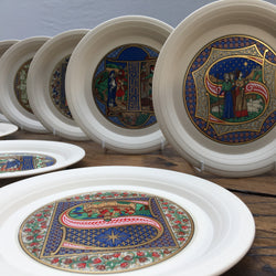 Hornsea Pottery Set of Christmas Plates