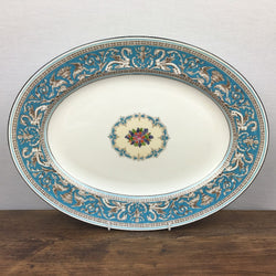 Wedgwood Turquoise Oval Serving Platter, Small