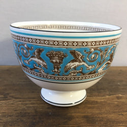 Wedgwood Florentine Turquoise Sugar Bowl, Footed