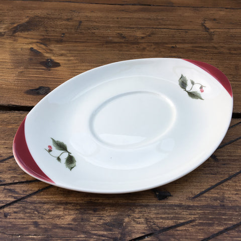 Wedgwood Mayfield Ruby Gravy Saucer