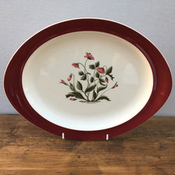 Wedgwood Mayfield (Ruby) Oval Platter, 13""