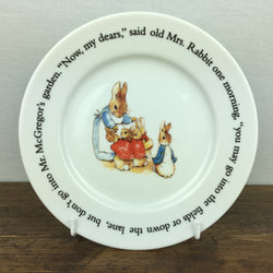 Wedgwood Peter Rabbit Tea Plate - Now my dears