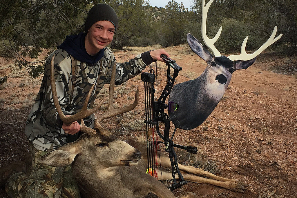Hunting Rutting Desert Mule Deer with Heads Up Decoy