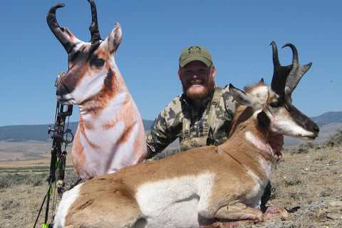 successful antelope hunting with Heads Up Decoy