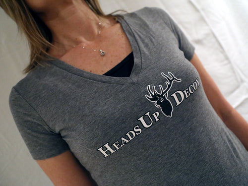 Belle fitted shirt with Heads Up Decoy Logo