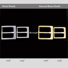 Dark's Leather - Belt Buckle Options in Nickel and Brass Finish