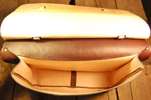 Dark's Leather Briefcase Attaché in Bison Espresso, Interior
