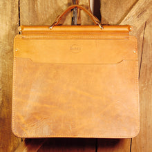 Dark's Leather Briefcase Attaché in Bison Whiskey, Back