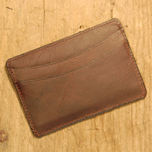 Dark's Leather Business Card Case Small Wallet in Bison Espresso