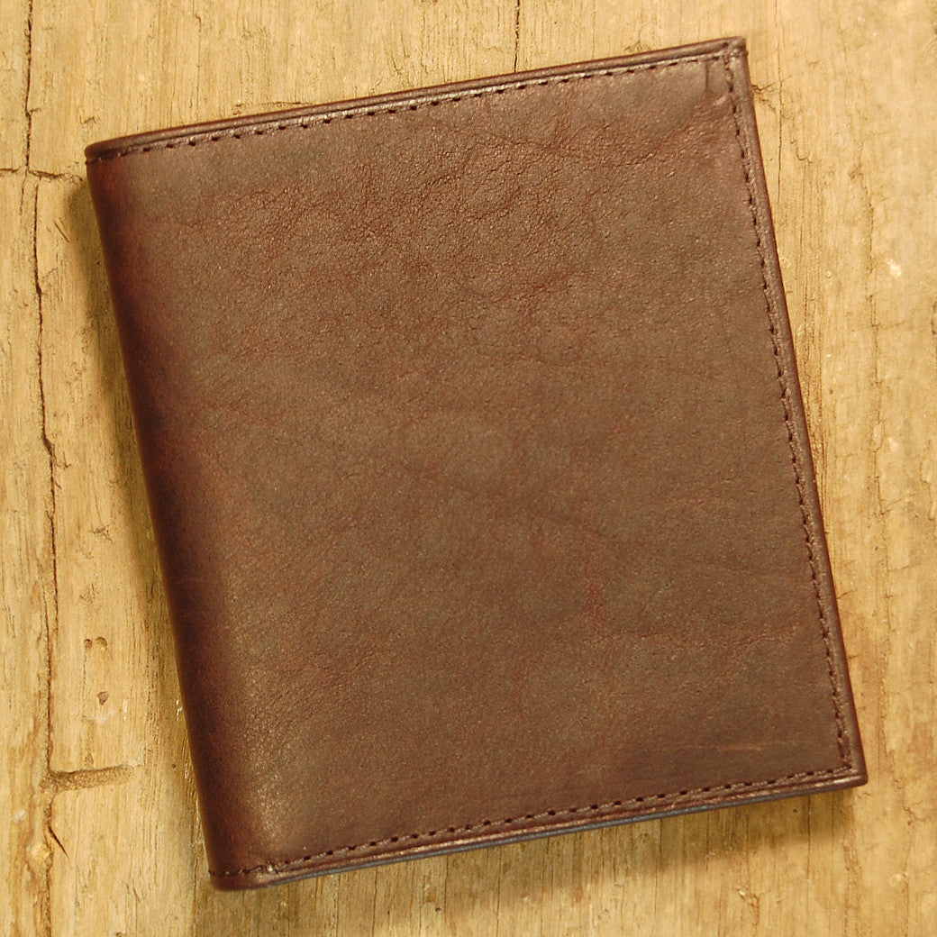 Dark's Leather Compact Wallet in Bison Espresso, Interior