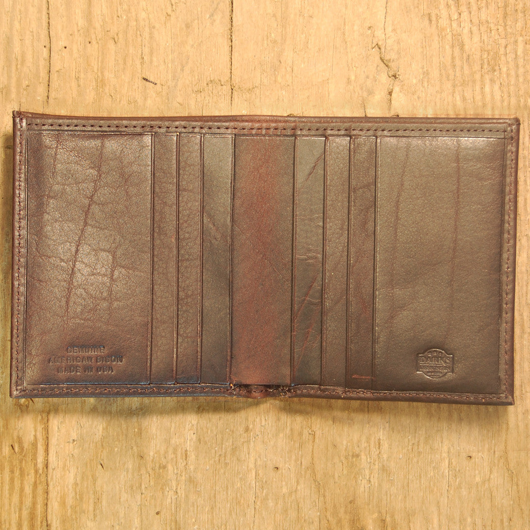 Dark's Leather Compact Wallet in Bison Expresso, Interior