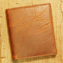 Dark's Leather Compact Wallet in Bison Tobacco, Front