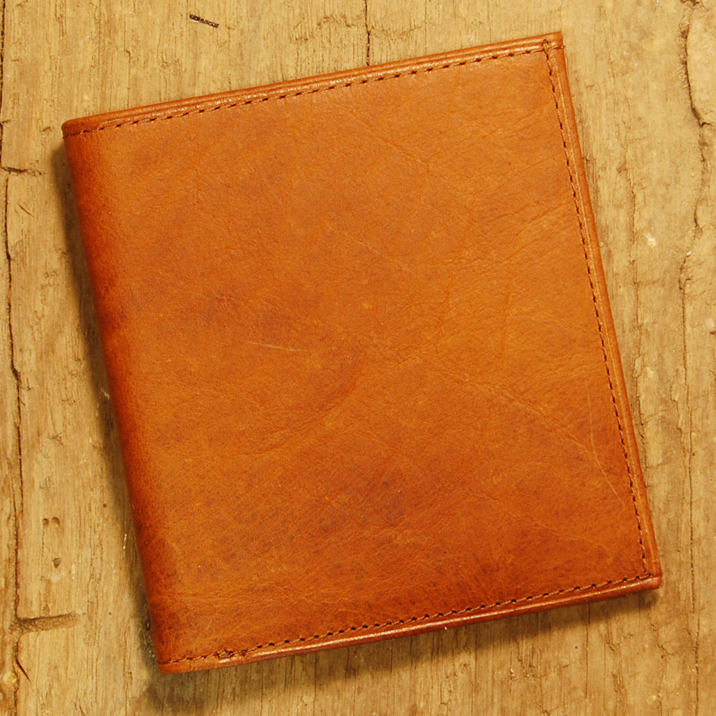 Dark's Leather Compact Wallet in Bison Whiskey, Front