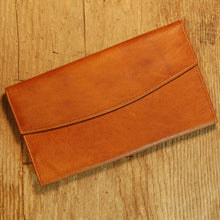 Dark's Leather Credit Card Clutch Wallet in Bison Whiskey