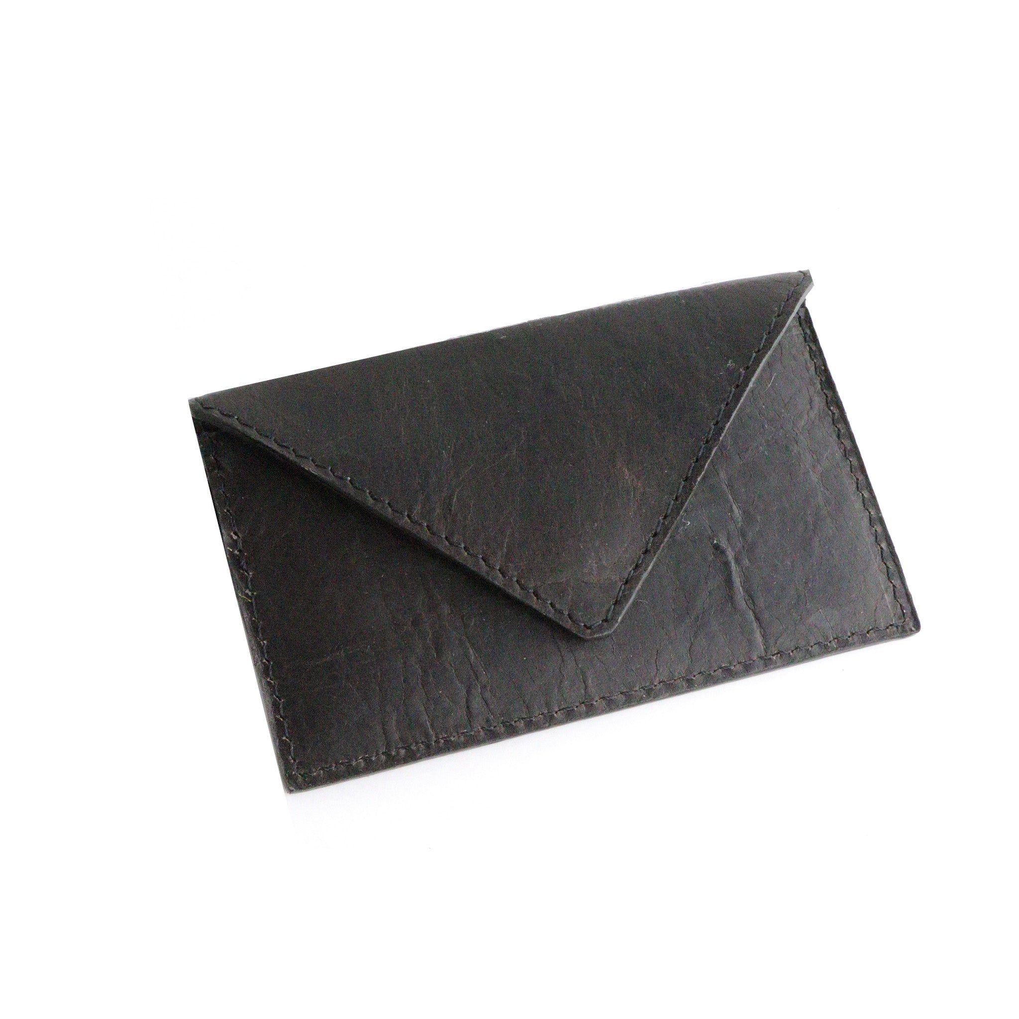 Dark's Leather - Envelope Calling Card Case in Bison Espresso