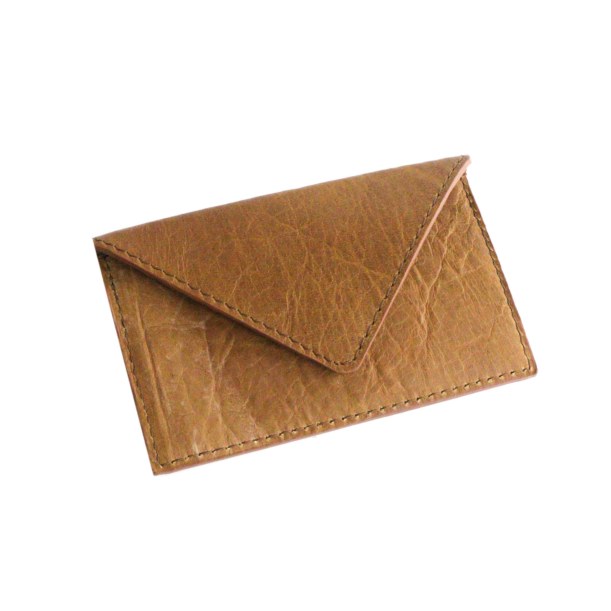 Dark's Leather - Envelope Calling Card Case in Bison Whiskey