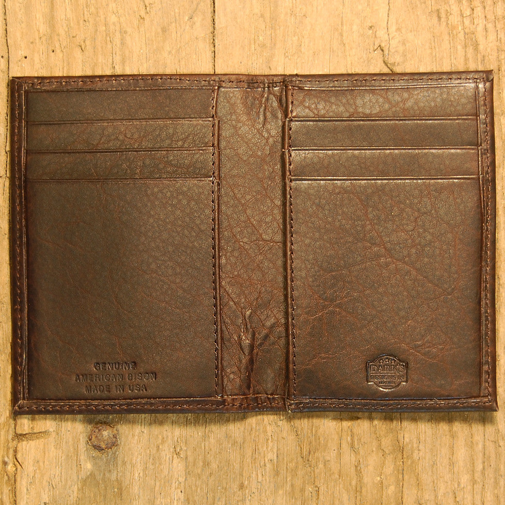 Dark's Leather Executive Card Case in Bison Espresso, Interior