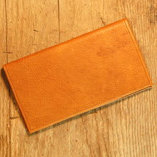 Dark's Leather Checkbook Slim Secretary Wallet in Bison Whiskey