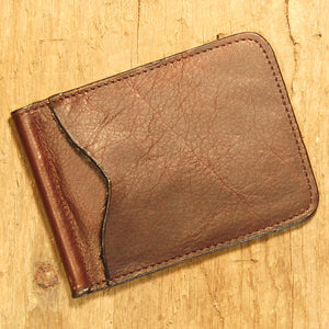 Dark's Leather Front Pocket Clip Wallet in Bison Espresso