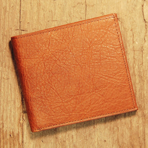 Dark's Leather Hipster Wallet in Bison Whiskey, Front