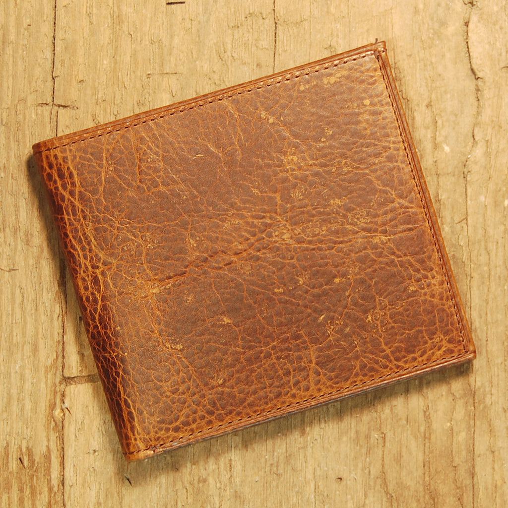 Dark's Leather Hipster Wallet in Bison Tobacco, Front