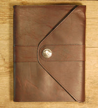 Dark's Leather Journal in Espresso Bison, front