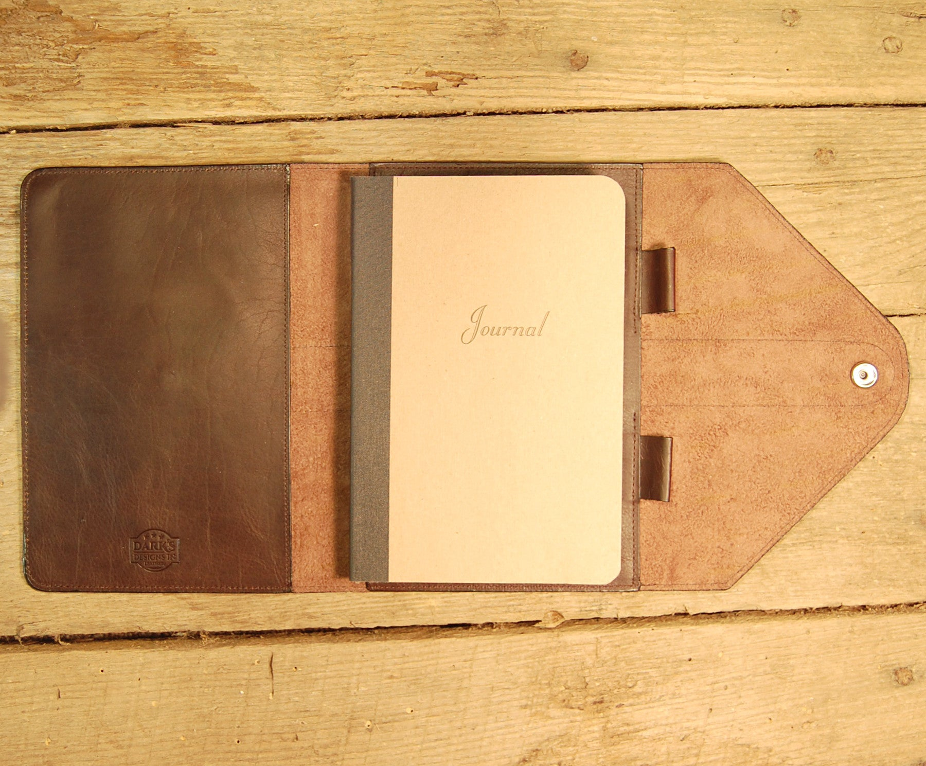 Dark's Leather Journal in Espresso Bison, Interior