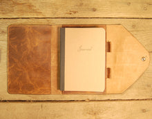 Dark's Leather Journal in Tobacco Bison, Interior