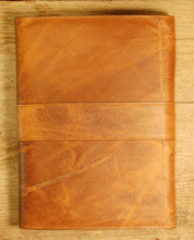 Dark's Leather Journal in Whiskey Bison, Back