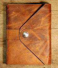 Dark's Leather Journal in Whiskey Bison, front