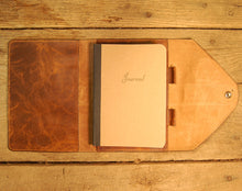 Dark's Leather Journal in Whiskey Bison, Interior