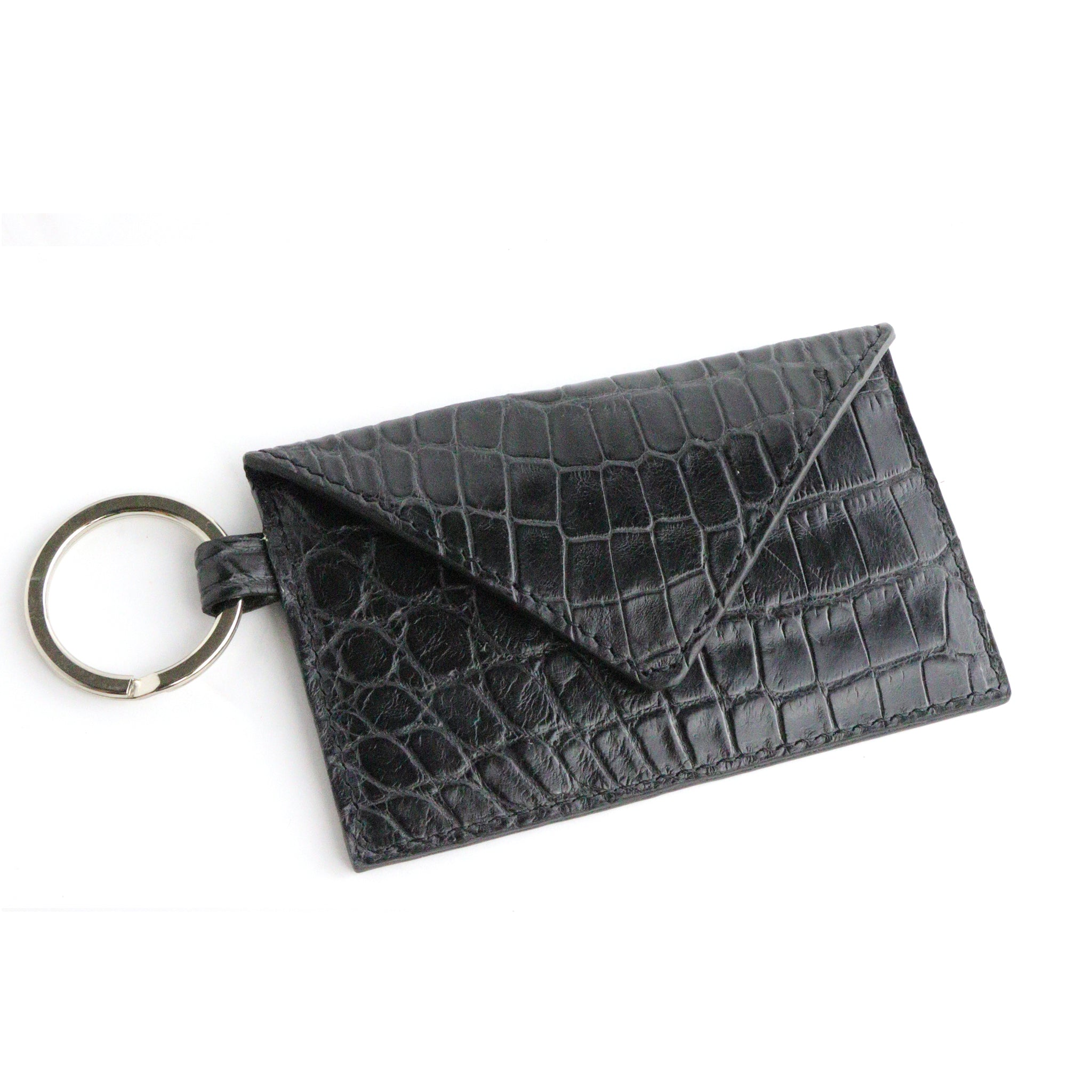 Alligator Black Key Card Envelope Wallet
