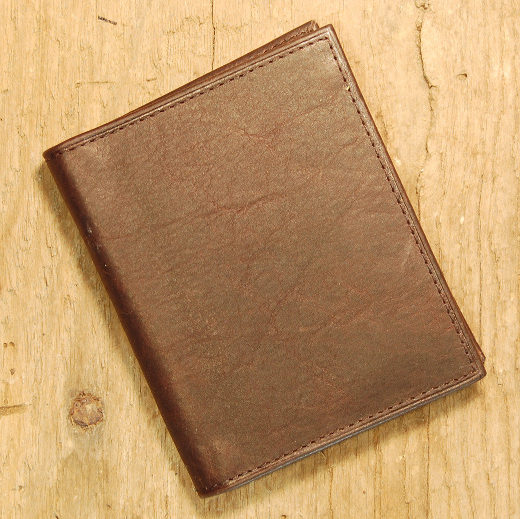Dark's Leather Money Clip Wallet in Bison Espresso, Front