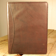 Dark's Leather Portfolio Notebook in Bison Espresso, Front