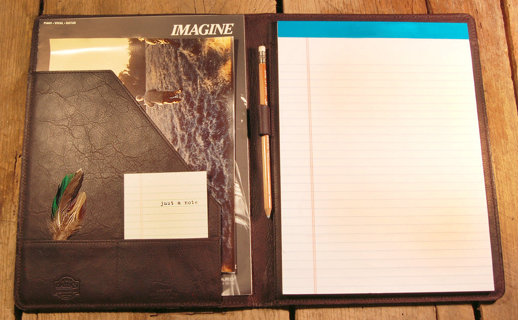 Dark's Leather Portfolio Notebook in Bison Espresso, Interior