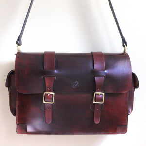 Dark's Leather - Range Bag Front View