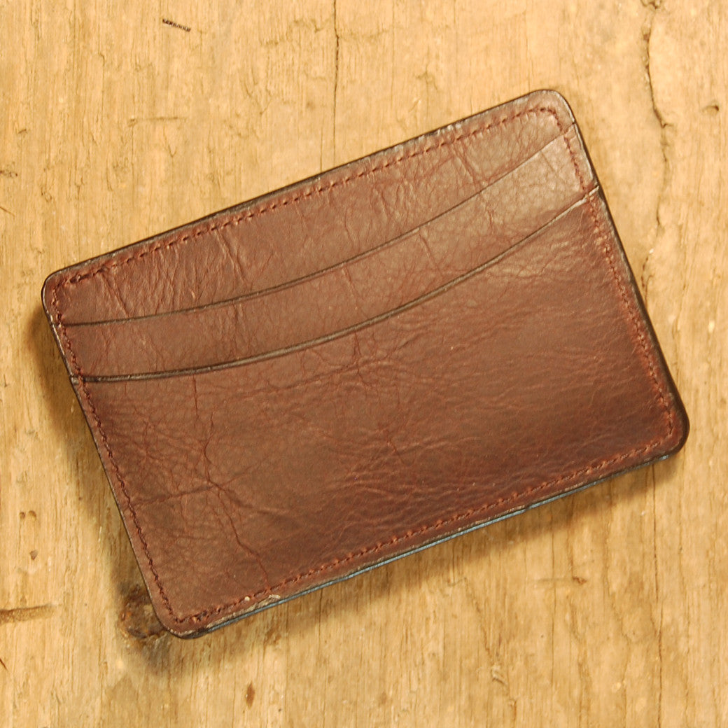 Dark's Leather Sport Wallet in Bison Espresso, Front