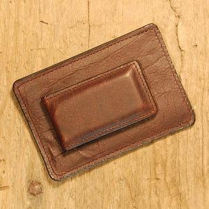 Dark's Leather Sport Wallet in Bison Espresso, Back