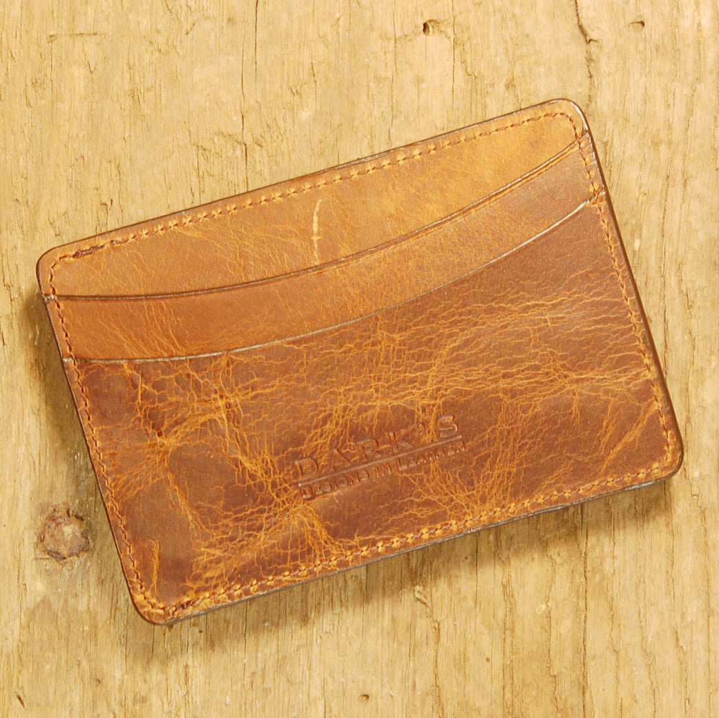 Dark's Leather Sport Wallet in Tobacco Bison, Front