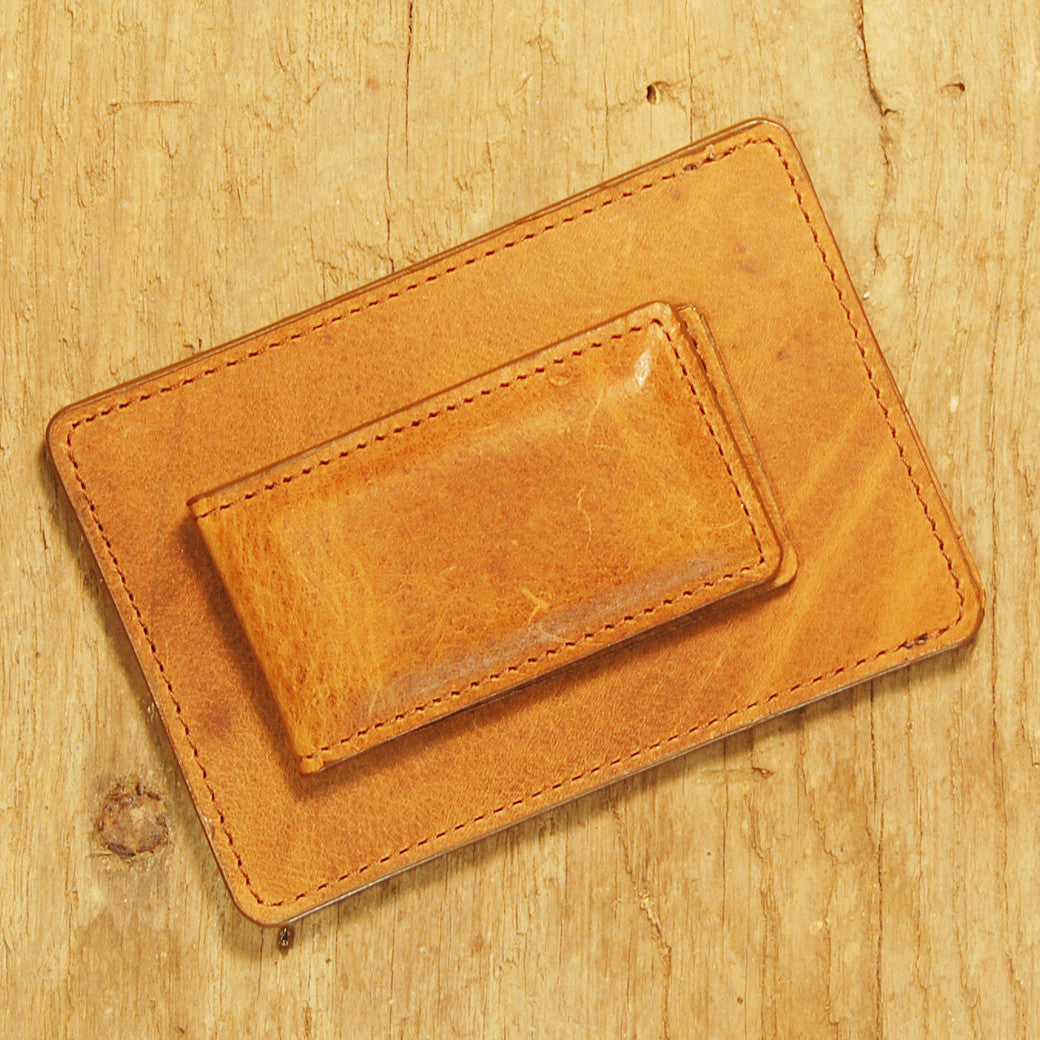Dark's Leather Sport Wallet in Whiskey Bison, Back