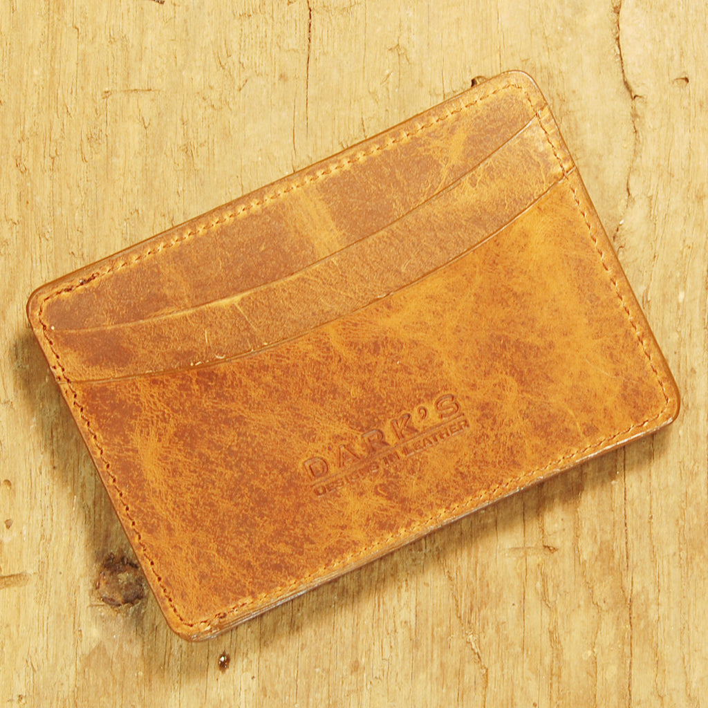 Dark's Leather Sport Wallet in Whiskey Bison, Front