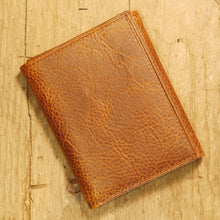 Dark's Leather Trifold Wallet in Tobacco Bison, Front