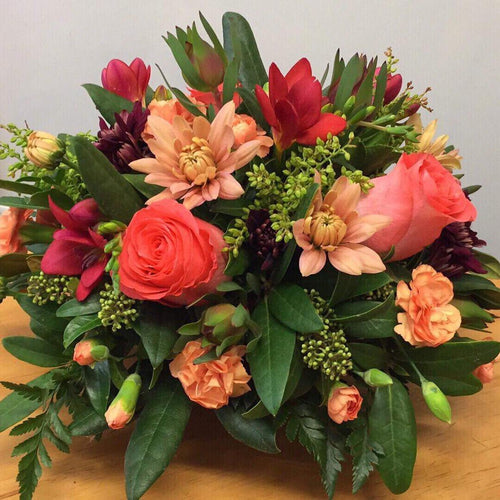 Posy bowl Arrangement in bright colours.