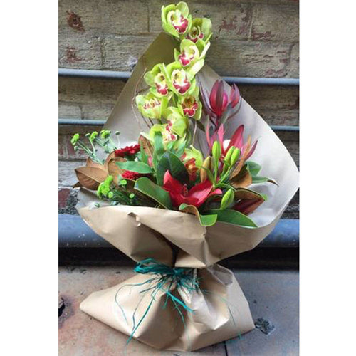 Eco Friendly Reds & Greens Bouquet