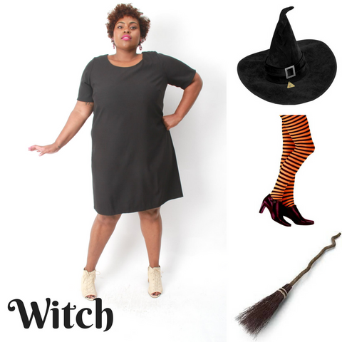 Plus Size DIY Witch Costume