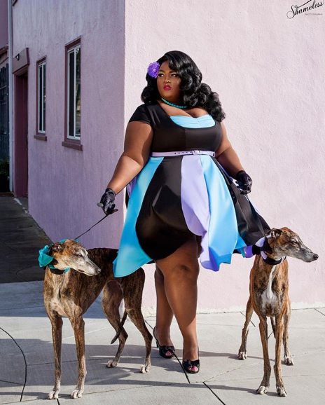 Plus Size Model Saucye West