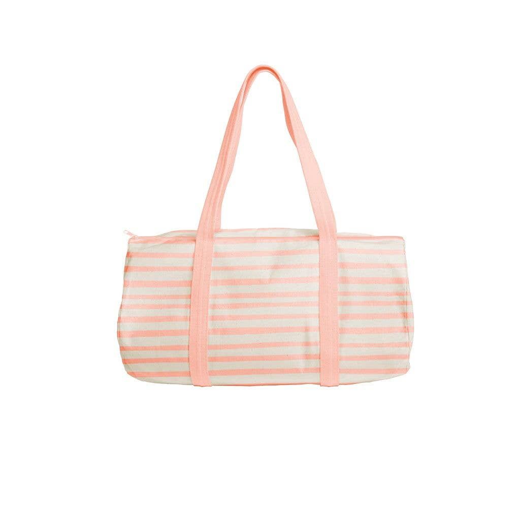 Talking Out of Turn - Darling Duffle Canvas Natural/Peach (Stripes)
