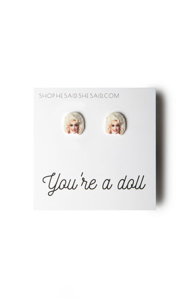 He said, She said - Dolly Parton Earrings