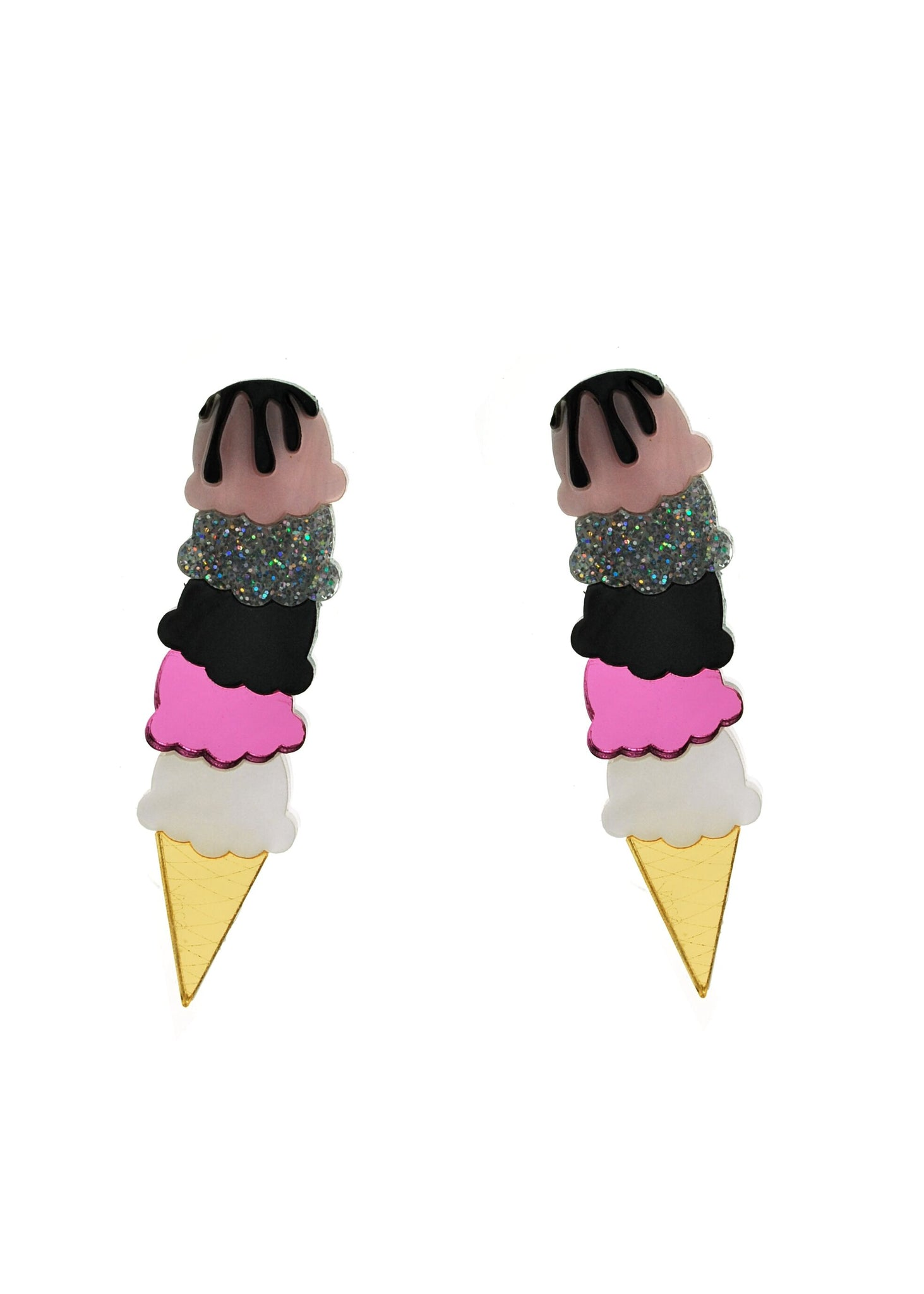 Vinca - Extra Large Icecream Cone Earrings