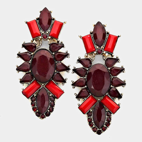 Exotic Redrum Earrings